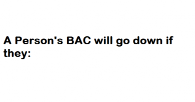 A Person's BAC will go down if they