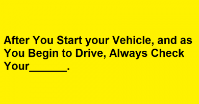 After You Start your Vehicle and as You Begin to Drive, Always Check Your