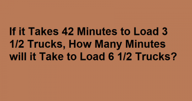 If it Takes 42 Minutes to Load 3 1 2 Trucks How Many Minutes will it Take to Load 6 1 2 Trucks