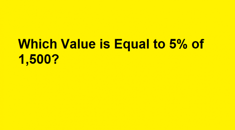 Which Value is Equal to 5% of 1,500