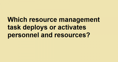 Which resource management task deploys or activates personnel and resources?