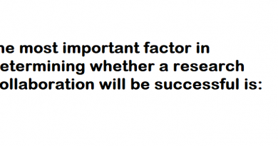 the most important factor in determining whether a research collaboration will be successful is